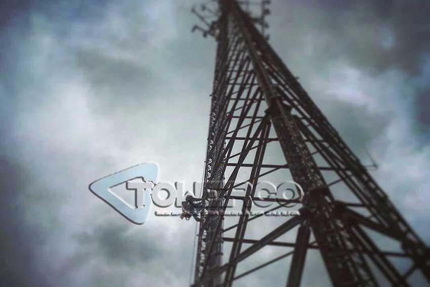 مُصنع الابراج الاتصالات في إيران الصواری الواقف