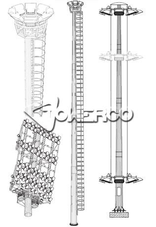 برج روشنایی (دکل روشنایی) با تاج متحرک