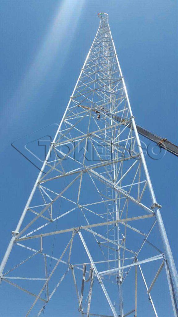 پروژه نصب دکل خودایستا 3 پایه 48 متری کرمان